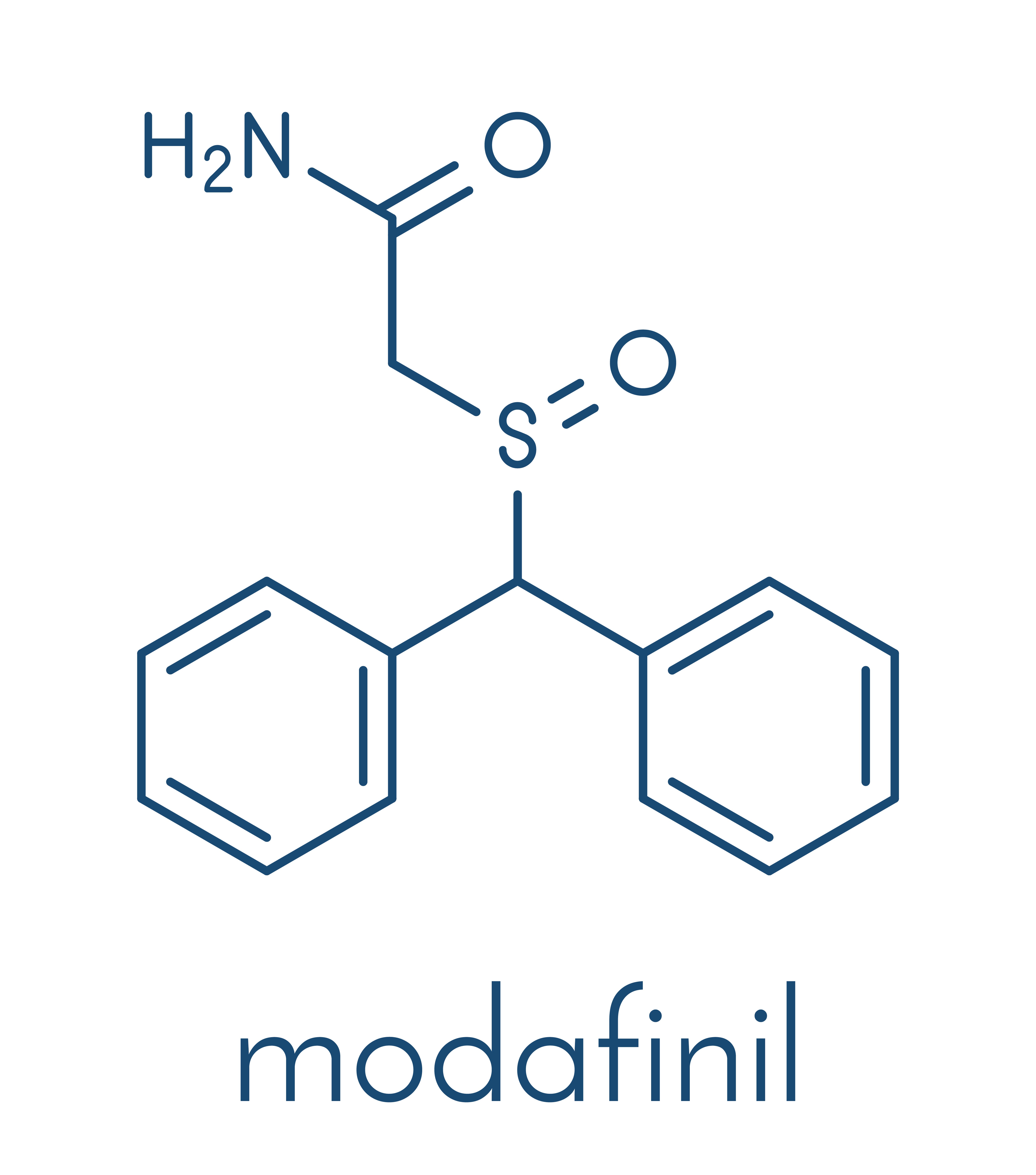 Chemische Struktur von Modafinil